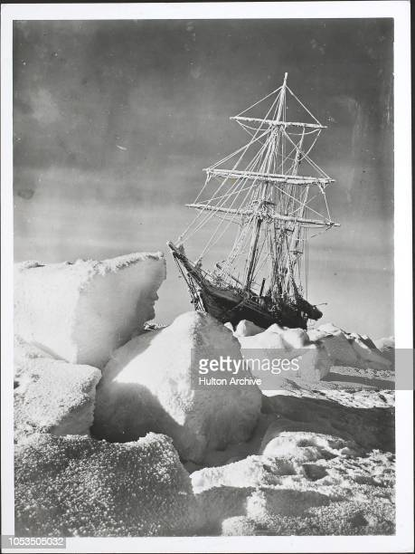 The 'HMS Endurance' caught in the ice in the Weddell Sea of the Antarctic during Sir Ernest Shackleton's Imperial TransAntarctic Expedition circa 1915