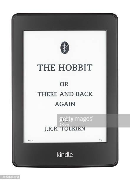 the hobbit on a kindle paperwhite - the hobbit stock pictures, royalty-free photos & images