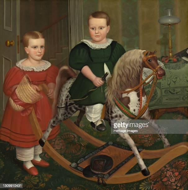 The Hobby Horse, circa 1840. Artist Robert Peckham. .