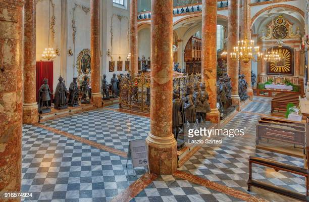 The Hofkirche is seen from inside on January 28 2018 in Innsbruck Austria The Court Church is also known by locals as 'u201cSchwarzmander...