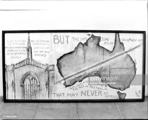 The Hogarth Gallery at PaddingtonL Rees Sir John Kerr painting November 4 1976