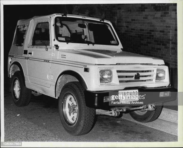 The Holden 4wd supposedly used in the Dulwich Hill hit and run in which a little girl was killed December 22 1986