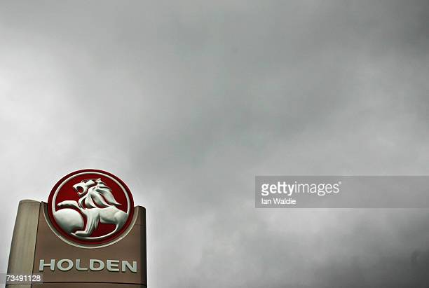 The Holden logo is displayed at a car dealership March 5 2007 in Sydney Australia The carmaker owned by General Motors has announced that more than...