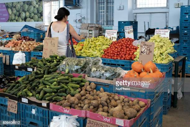 The Holesovice Market in the center of Prague. Also known as the River Town market here you can find clothing, decorative objects, Czech food and...
