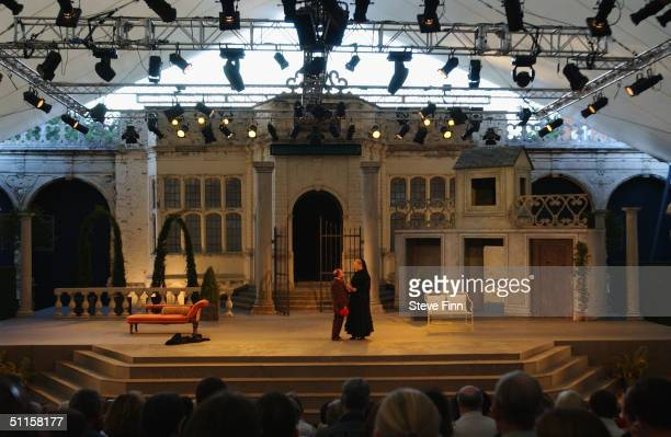 The Holland Park Open Air Theatre is shown on press night of Twelfth Night August 10 2004 in London