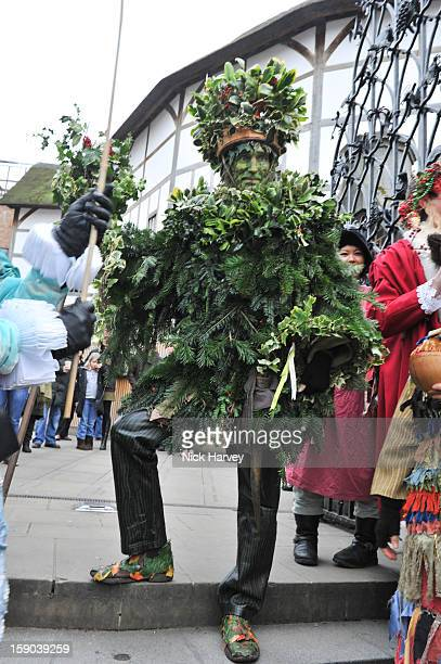 The Holly Man attends the Lions Part's 19th Twelfth Night celebrations at Shakespeare's Globe on January 6 2013 in London England