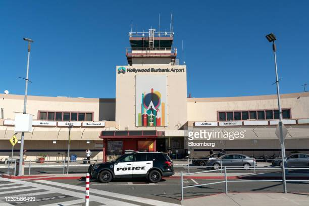 The Hollywood Burbank Airport in Burbank, California, U.S., on Wednesday, April 28, 2021. New money is flowing to low-cost airlines in the U.S. As...