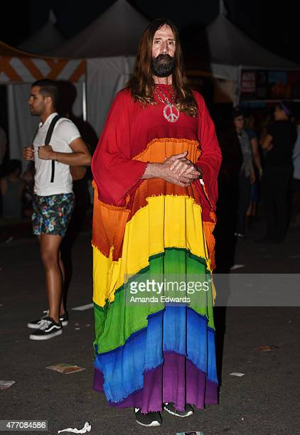 The Hollywood Jesus attends LA Pride 2015 by Christopher Street West on June 13 2015 in West Hollywood California