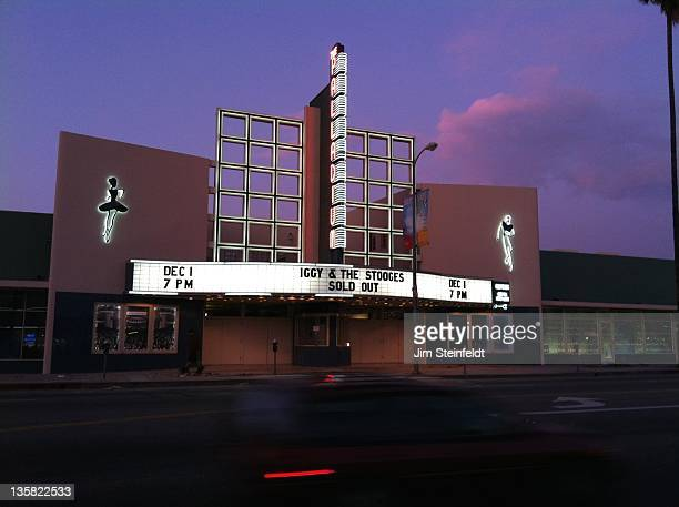 The Hollywood Palladium marquee featuring Iggy and The Stooges on December 1, 2011.