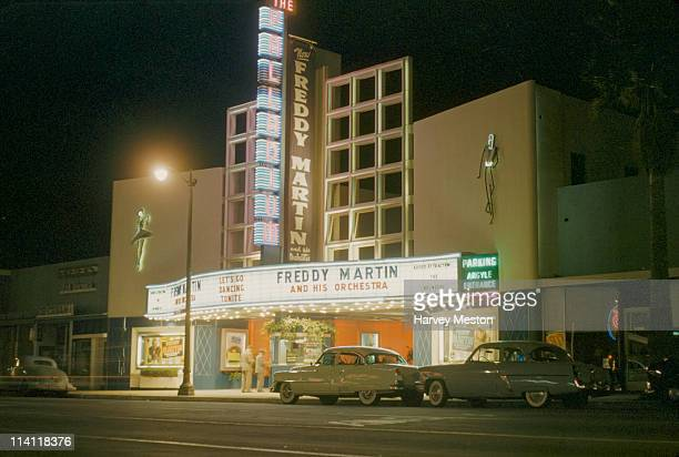 The Hollywood Palladium on Sunset Boulevard in Hollywood, Los Angeles, California, circa 1950. Freddy Martin and his Orchestra are the featured band.