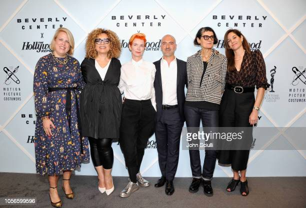 The Hollywood Reporter's Style and Fashion News Director Booth Moore Ruth E Carter Sandy Powell Carlos Rosario Alexandra Byrne and Erin Benach arrive...