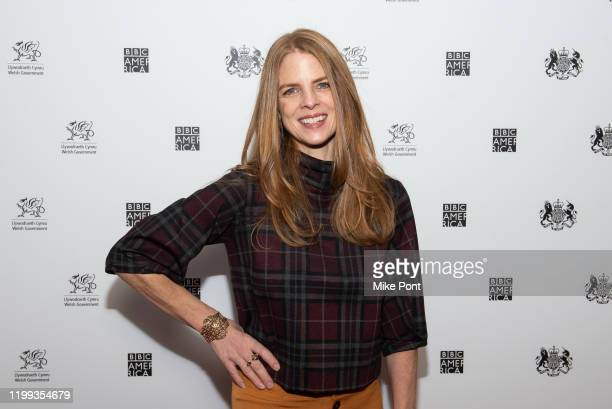 The Hollywood Reporter's television editor moderator Marisa Guthrie attends the Seven Worlds One Planet Screening at Crosby Hotel on January 13 2020...