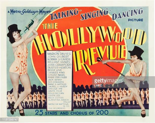 The Hollywood Revue Of 1929, poster.