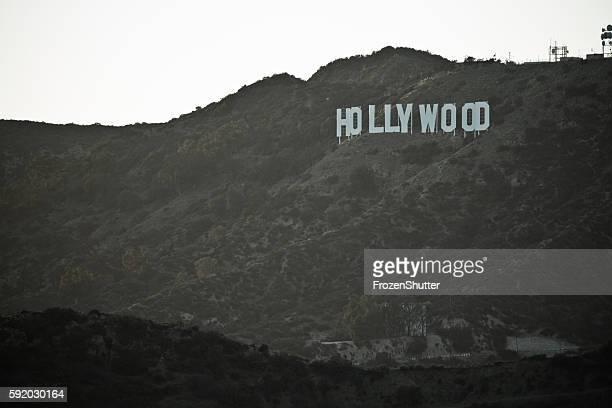 The Hollywood sign in the Los Angeles mountain