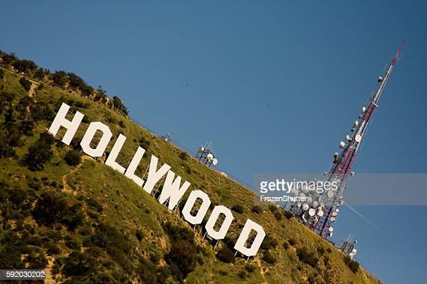 Das Hollywood-Zeichen in Los Angeles-Berge