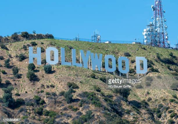 The Hollywood Sign is seen on July 11, 2020 in Los Angeles, California.