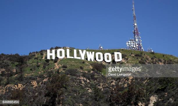The Hollywood Sign is seen on March 1 2017 in Los Angeles California