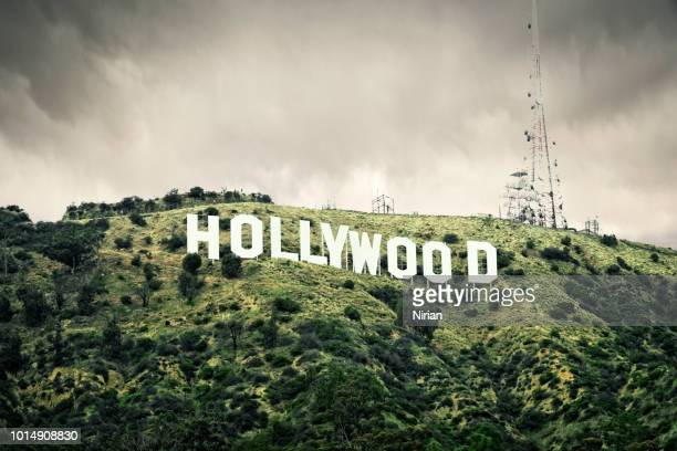 the hollywood sign - hollywood sign stock pictures, royalty-free photos & images