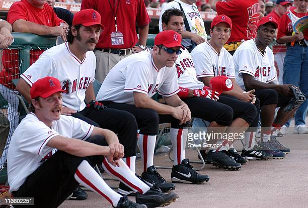The Hollywood Stars Halos during Hollywood AllStars Celebrity Softball Game August 16 2003 at Edison International Field in Anaheim California United...