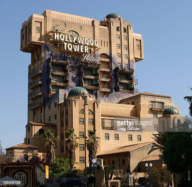 The Hollywood Tower Of Terror Hotel attraction during The Twilight Zone Tower of Terror Opens at Disney's California Adventure at California...