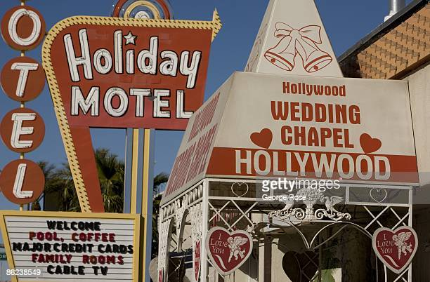 The Hollywood Wedding Chapel Located Next To Holiday Motel On Famed Las Vegas Strip