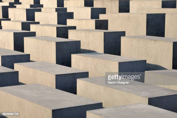 the holocaust memorial berlin. - holocaust in color stock pictures, royalty-free photos & images