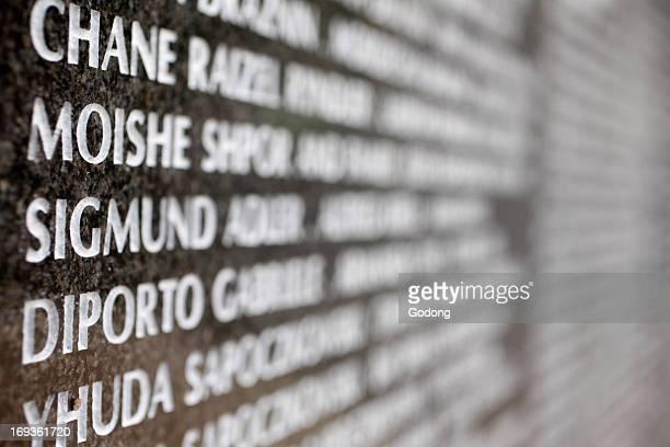 The Holocaust Memorial Miami Beach Wall of names