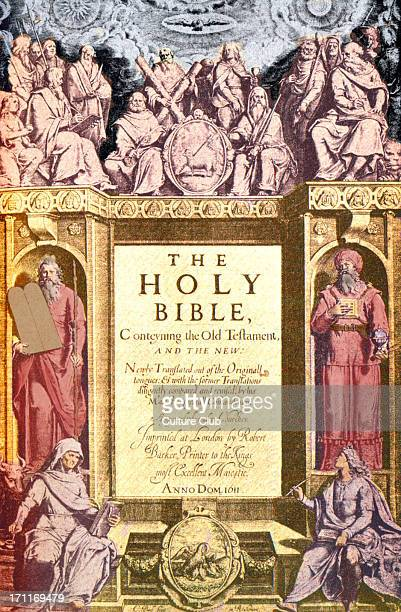 The Holy Bible published 1611 known as the King James' version Titlepage reads 'The Holy Bible Conteyning the Old Testament and the New' English...