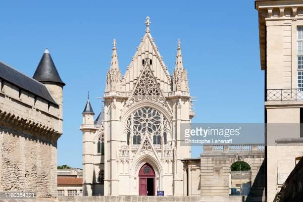 the holy chapel of the castle of vincennes. - vincennes stockfoto's en -beelden
