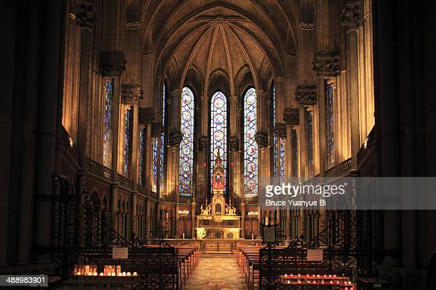 the holy chapel - cathedral stock pictures, royalty-free photos & images