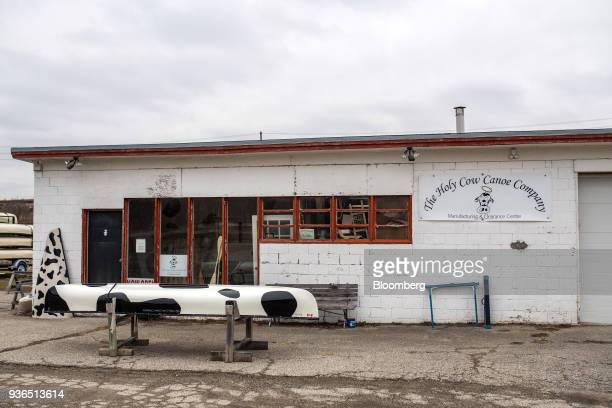 The Holy Cow Canoe Co production facility stands in Guelph Ontario Canada on Thursday March 1 2018 Statistics Canada is scheduled to release gross...