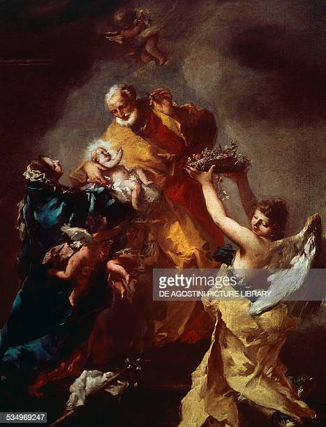 The Holy Family 17401745 by Francesco Guardi formerly attributed to Giovanni Antonio Guardi oil on canvas cm 1157x962 Italy 18th century Toledo...