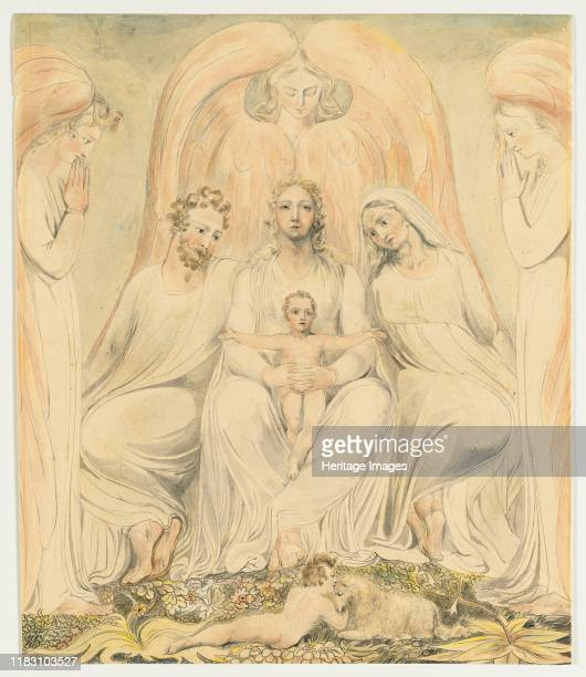 The Holy Family circa 1805 Although he rejected institutionalized religion Blake was intensely spiritual and much of his art was inspired by a highly...