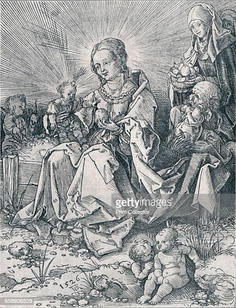 'The Holy Family on a Grassy Bench' 1526 From Durer Des Meisters Gemalde Kupferstiche und Holzschnitte in 471 Abbildungen [Stuttgart und Leipzig...