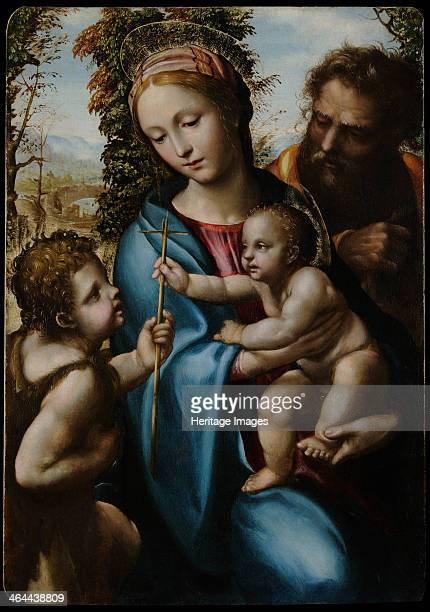 The Holy Family with John the Baptist as a Boy 15251528 Found in the collection of the Museo Civico Pinacoteca Crociani