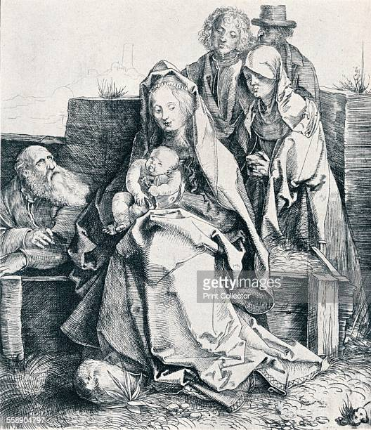 'The Holy Family with St John the Magdalene and Nicodemus' 1512 From Durer Des Meisters Gemalde Kupferstiche und Holzschnitte in 471 Abbildungen...