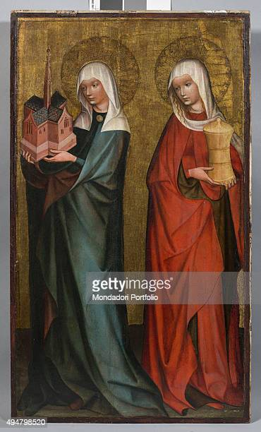The Holy Mary Magdalene and Hedwig by Maestro di Trebon c 13901400 14th Century tempera on board 66 x 41 cm Italy Lombardy Mantua Palazzo Ducale...