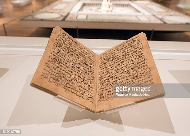 The Holy Quran book in a museum exhibit The Quran literally meaning the recitation also romanized Qur'an or Koran is the central religious text of...
