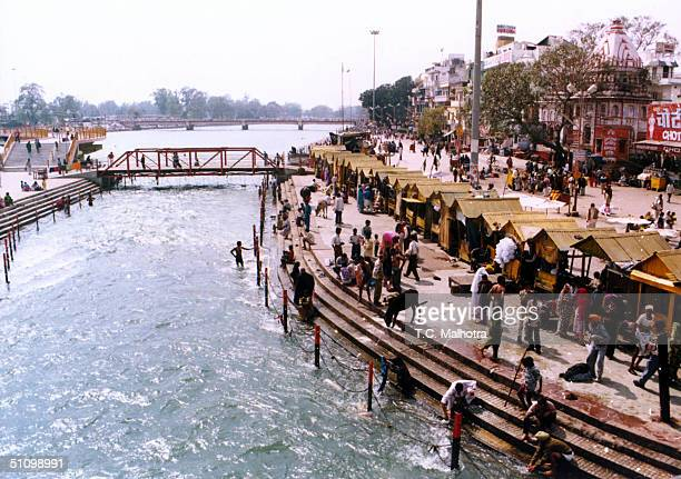 The Holy Site Of Har Ki Pauri In Haridwar North India Is Visited By Thousands Of Hindus From Different Parts Of The Country Where Three Holy Rivers...