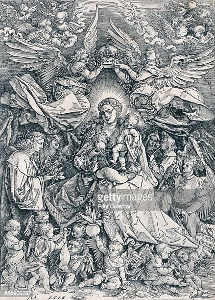 'The Holy Virgin as the Queen of the Angels' 1518 From Durer Des Meisters Gemalde Kupferstiche und Holzschnitte in 471 Abbildungen [Stuttgart und...