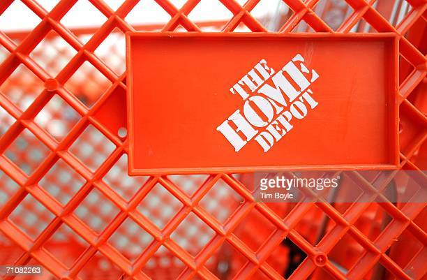 The Home Depot logo is seen on a shopping cart outside its store May 30 2006 in Chicago Illinois Chicago is considering an ordinance that would...