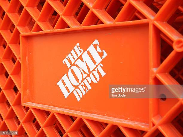 The Home Depot logo is seen on a shopping cart outside the store February 17 2005 in Evanston Illinois The world's largest home improvement retailer...