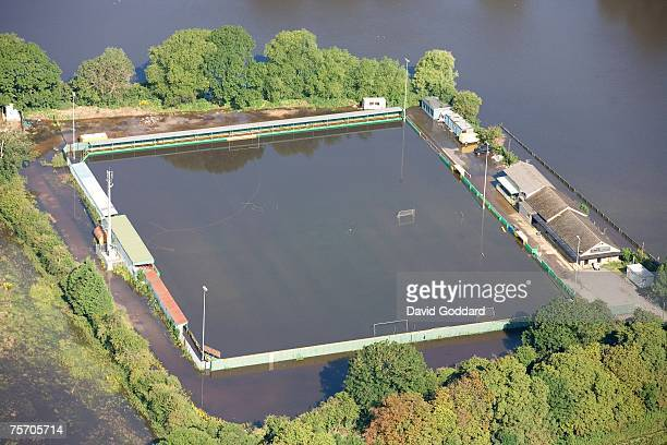 The home of Abingdon Town FC is flooded as the Thames Valley sees record water levels following the recent summer storms on July 25 2007 in Abingdon...