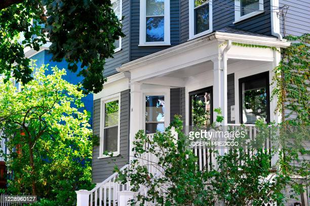 The home of American poet Louise Gluck, a professor at Yale University, who won the 2020 Nobel Prize in Literature, is seen in Cambridge,...