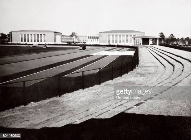 The home of German sport and adjacent swimming hall Berlin Germany 1936 View of the outside of the swimming hall at the Reichssportfeld sports...