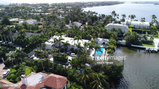 The home of Jeffrey Epstein has a large waterfront footprint in the Town of Palm Beach not far from President Trump's MaraLago