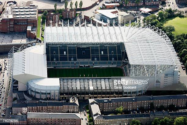 The home of Newcastle United Football Club - St James Park in this aerial photo taken on 9th September, 2006.