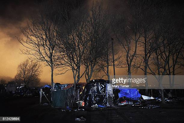 The home of Osman a refugee living in the camp known as 'The Jungle' from where thousands of asylum seekers try to make their way to the UK through...