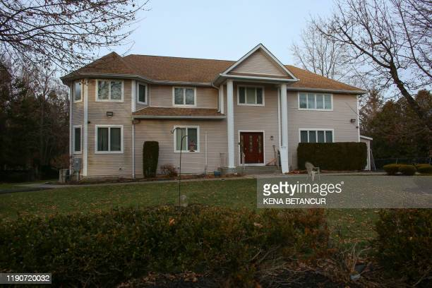 The home of rabbi, Chaim Rottenbergin Monsey, is seen in New York on December 29, 2019 after a machete attack that took place earlier outside the...