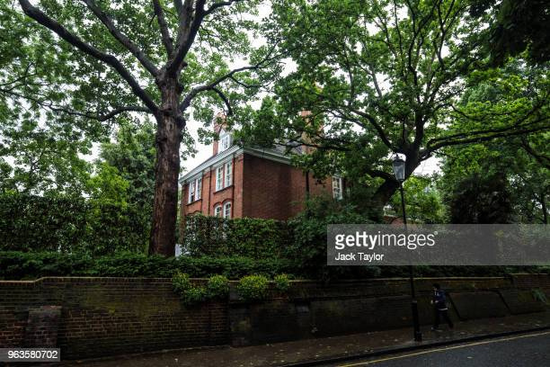 The home of Robbie Williams stands in Kensington and Chelsea on May 29 2018 in London England British singer Robbie Williams has been in a four year...